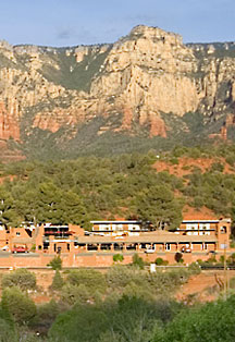 Hiking trails are located right behind the Kings Ransom Sedona Hotel